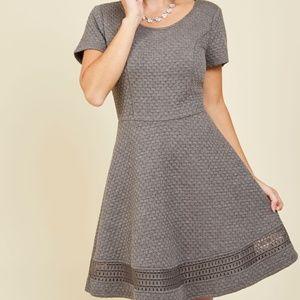 Modcloth Al Fresco Event Dress in Grey